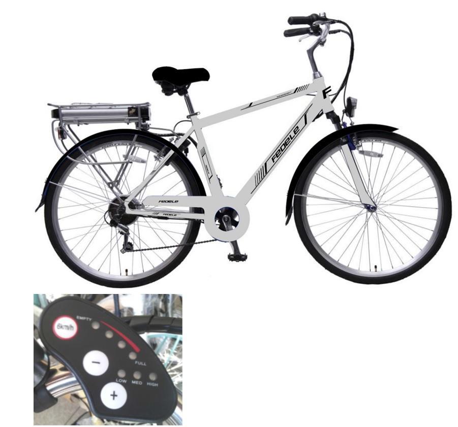 Bicicletta elettrica con acceleratore e pedalata assistita for Bici elettrica assistita
